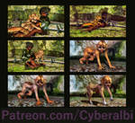 Girl to dog transformation sequence by Cyberalbi