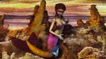 Little mermaid girl by Cyberalbi