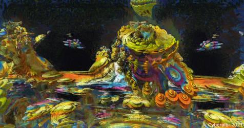 Alien planet 2 - Mandelbulb3d fractal art