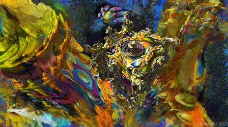 Alien planet - Mandelbulb3d fractal art