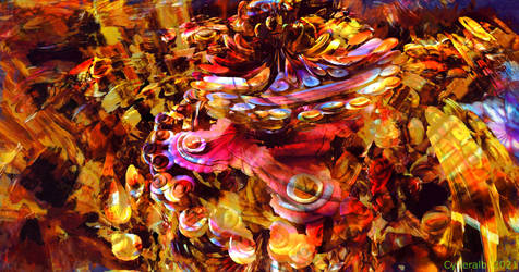Magic garden 1 - Mandelbulb3d fractal art