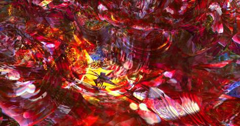 Hell flames 1 - Mandelbulb3d fractal art