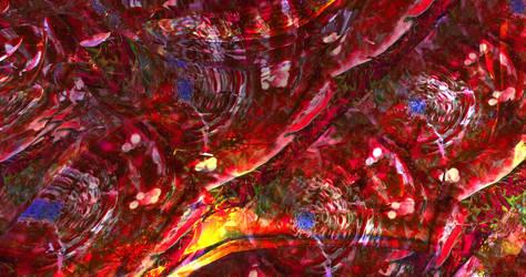 Hell flames 2 - Mandelbulb3d fractal art