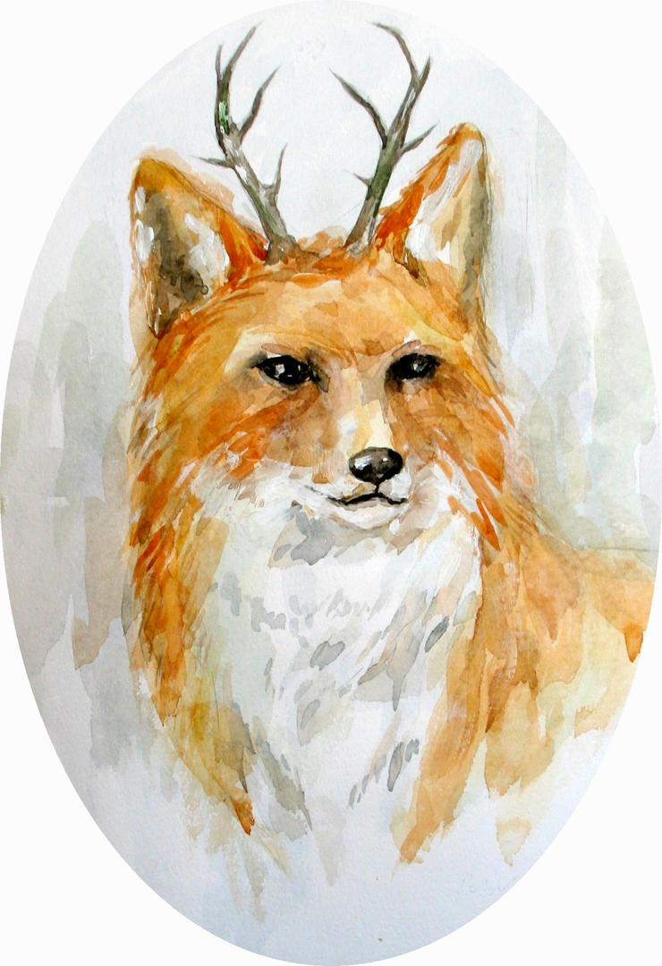 Wood Fox by En-mei