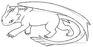 Wild Toothless - FREE Lineart~