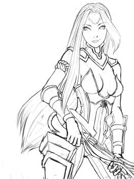 Dragoncaller Cassie Sketch