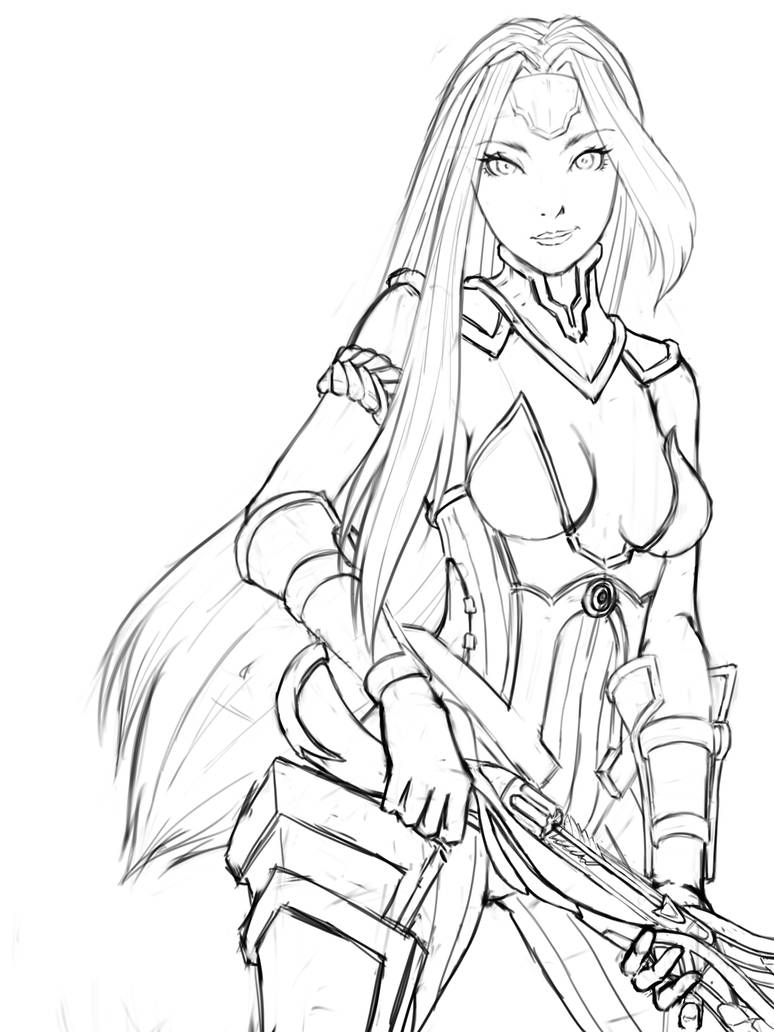 Dragoncaller Cassie Sketch by aulaz