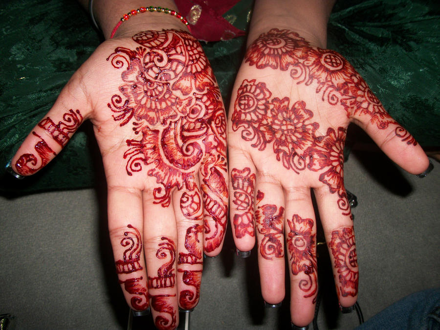 Art body design henna mehndi traditional