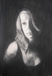 self-portrait. 2. by blueink21