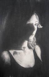 self-portrait. 3. by blueink21