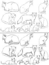 Free Cat Lineart 2 PAINT FRIENDLY
