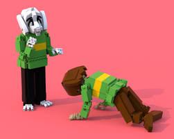 Lego Undertale Chara 3 by pb0012