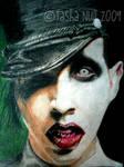Marilyn Manson, Colored Pencil, 2009.