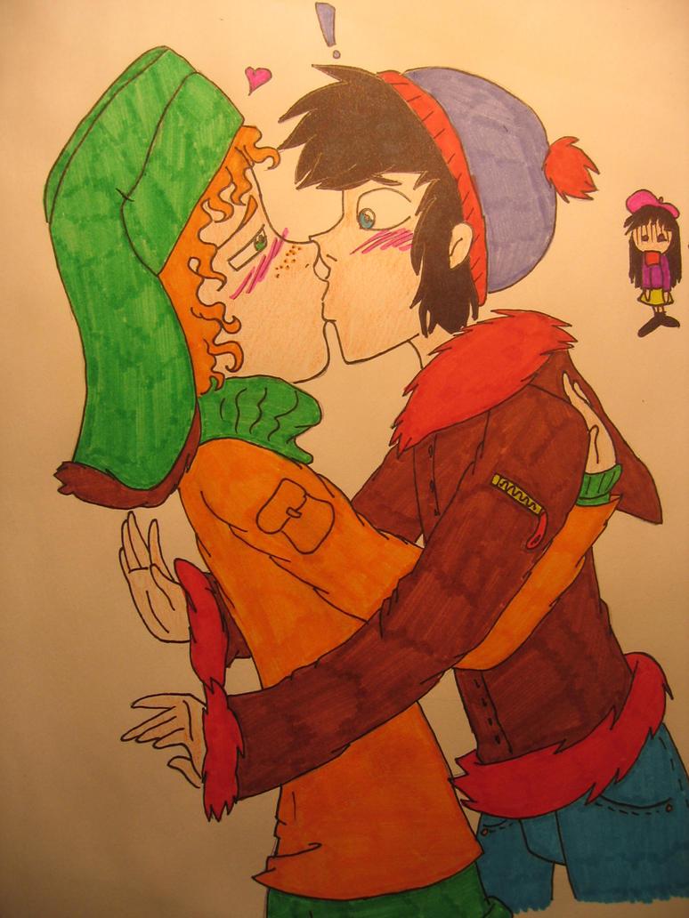 Kyle and stan kiss