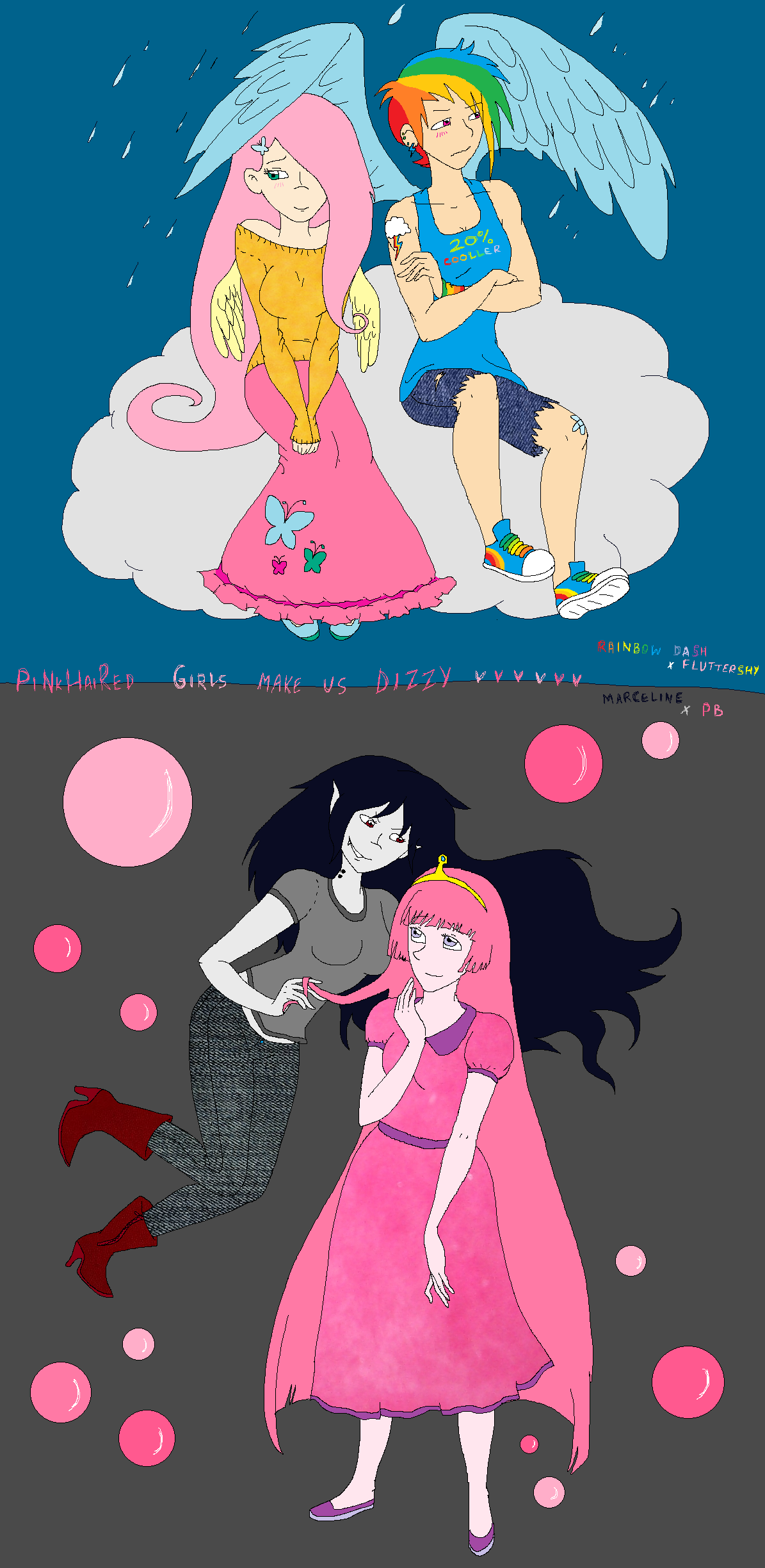 Pinkhaired girls make me DIZZY by just-agu