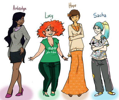 Some OCs by just-agu