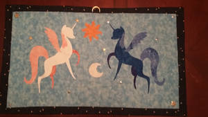 Hanging Celestia and Luna Quilt [For Sale]