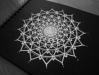 White Mandala II by Val-Elferyia
