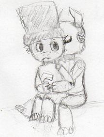 chibi hug by ThatLuckySonOfA