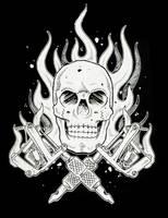 skull tattoo machine by ganesaishaya