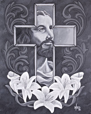 jesus with lilly by ganesaishaya