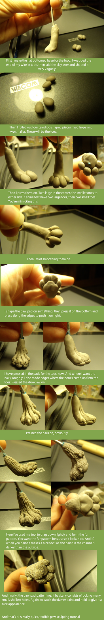 Canine Paw Tutorial. by Khrests