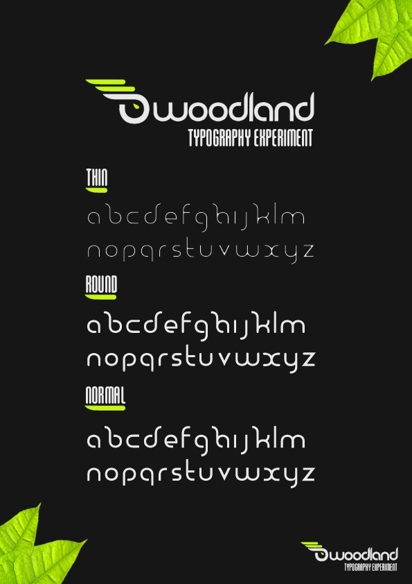 Woodland Typography by Nikeos