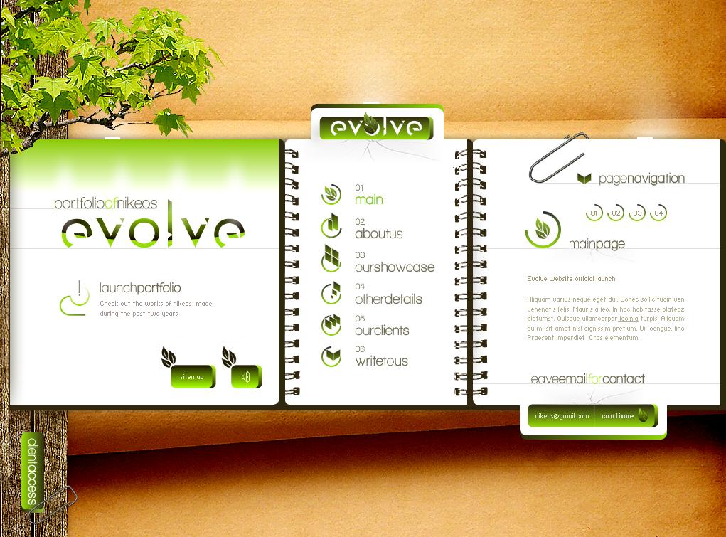 evolve website V2