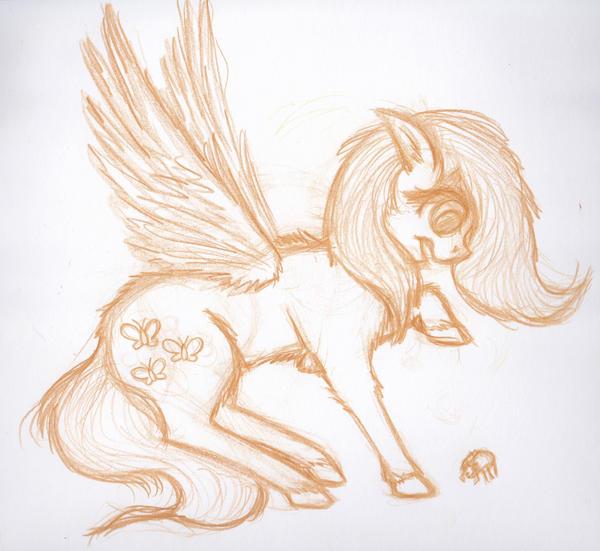 Sketch-Fluttershy by whtwvphntm