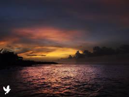 Sun Setting Jamaica by dancpicturez