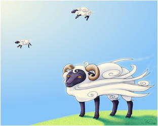 Sheep are clouds, right? by capsicum