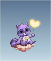 Bright Heart Raccoon by capsicum