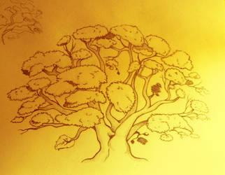 Tree by capsicum