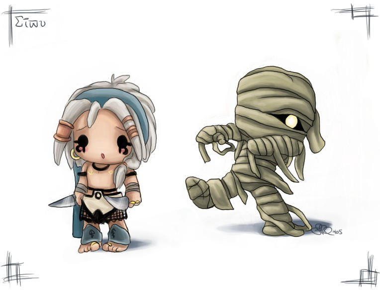 Chibi Sivu + The Mummy by capsicum