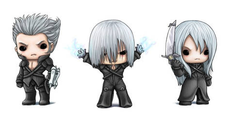 Chibi Silver Haired Men
