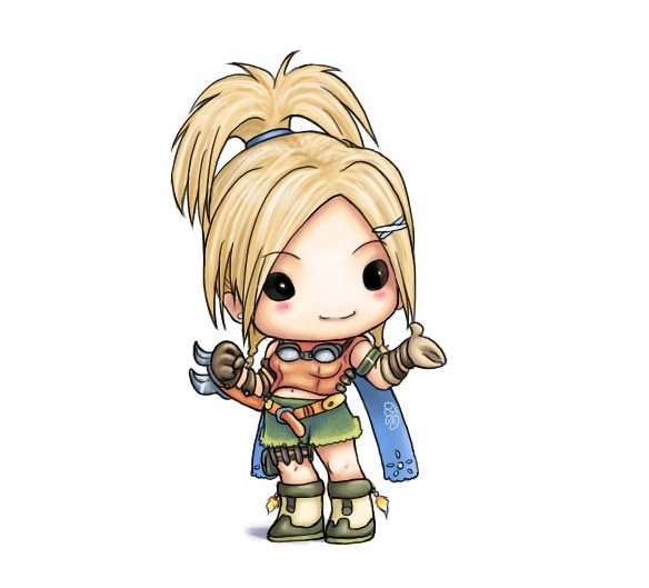Chibi Rikku by capsicum