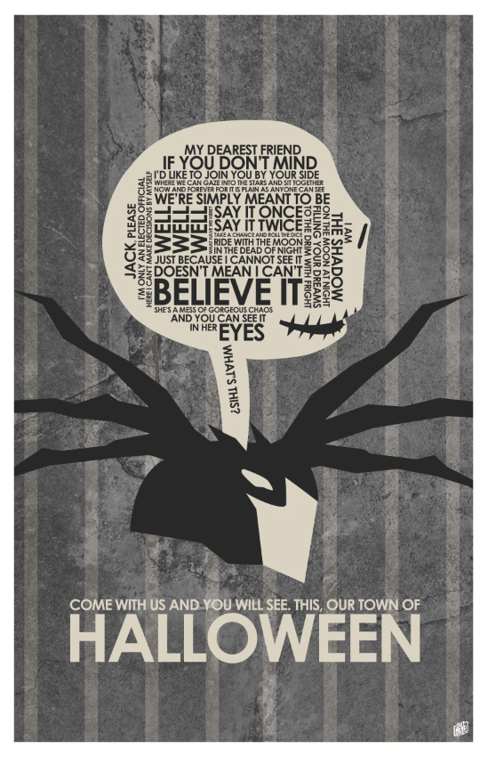Nightmare Before Christmas Quote Poster By Outnerdme ...