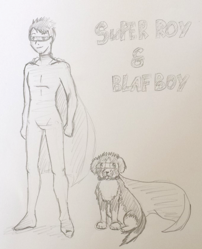 Super Roy and Blaf boy by lissje