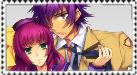 Noda and Yuri Stamp by InvaderPumpkinQueen