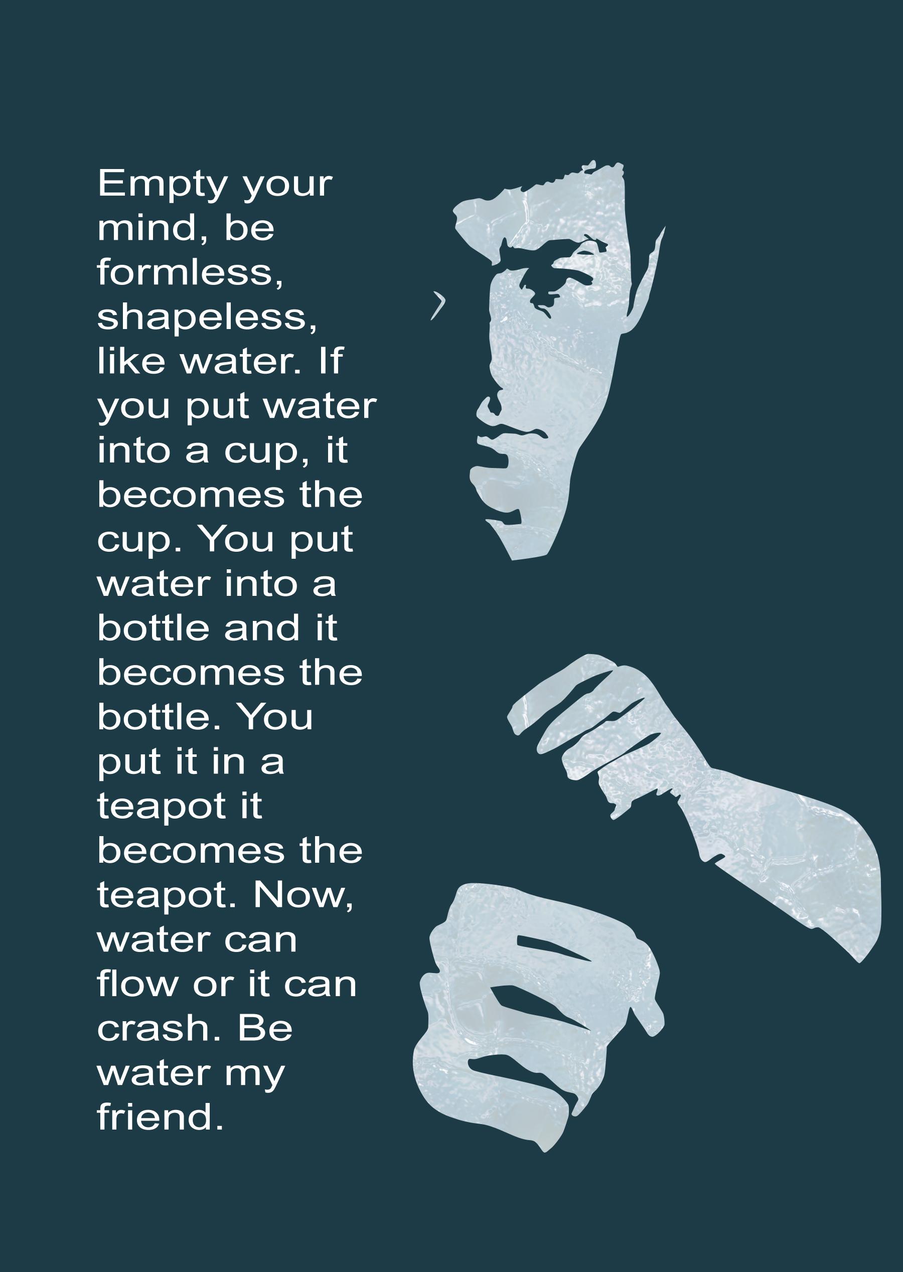 Be Like Water Bruce Lee By Benjimc On Deviantart