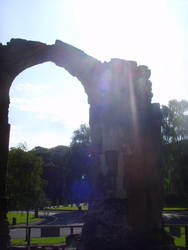 Sunlight Through The Priory Ruins