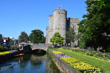 Looking across to Westgate Towers, Canterbury