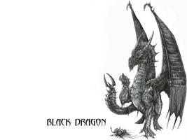 Wallpaper: Black Dragon by AlphonseCapone