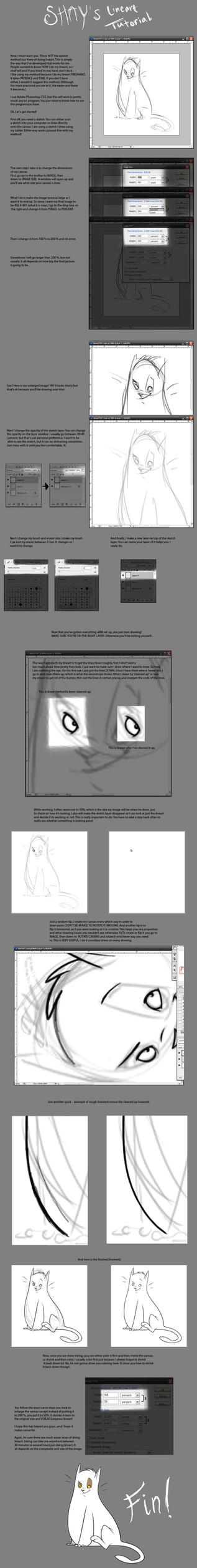 Lineart Tutorial by shayfifearts