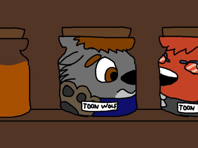 Toon Wolf in a Jar by MK2716