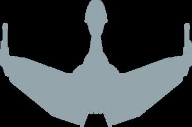 Klingon Bird of Prey logo by radishdalek