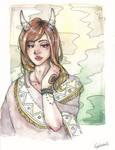 Watercolor Girl 2