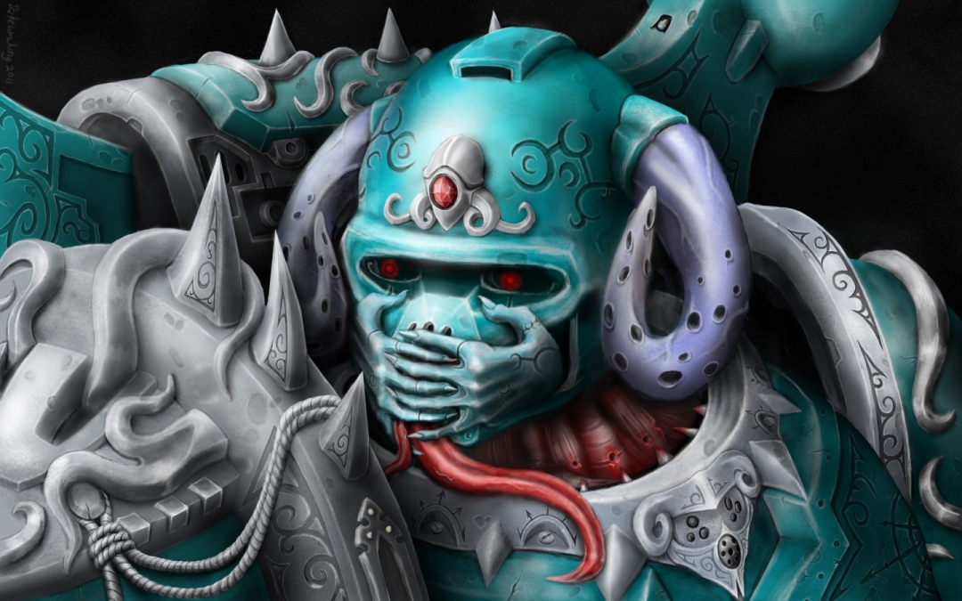 space marine wallpaper. Chaos Space Marine - Portrait