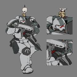 Tactical Marine Squad Leader - Ashen Shrikes by MistyMiasma
