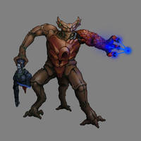 Commission 003: Idiran Warrior by MistyMiasma